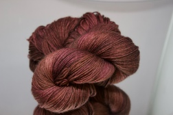 Brown/Pink fingering yarn