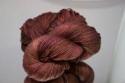 Brown/Pink fingering yarn