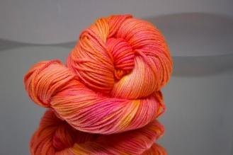 Orange/Pink Worsted yarn