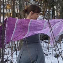Softly Spoken - 680 yards (622 m) https://www.ravelry.com/patterns/library/softly-spoken-2