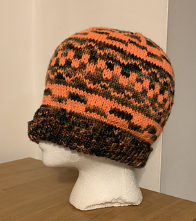 Hills and Valleys Fair Isle hat