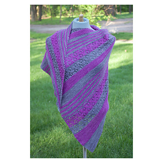 Expedition Shawl - lace mixed with garter sections